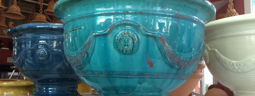 Vases d'Anduze turquoise